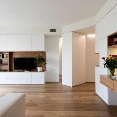 Apartamento minimalista con aire industrial
