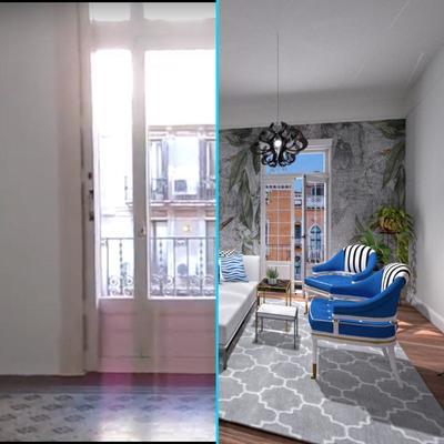 Diseño ONLINE: Salón elegante