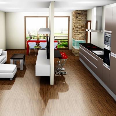 salon-cocina 3d