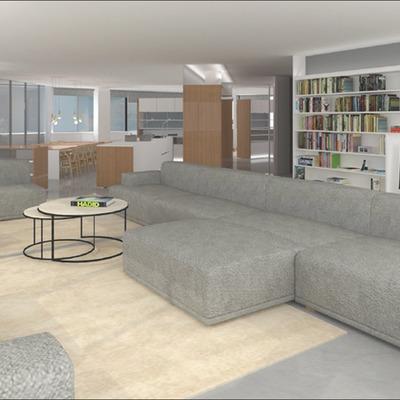 Proyecto de conversión de una oficina en vivienda en Barcelona.