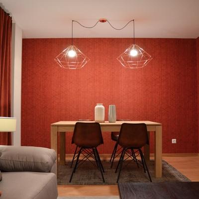 Una vivienda de estilo contemporáneo y con colores cálidos