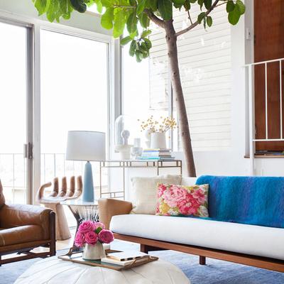 Salón con árbol interior