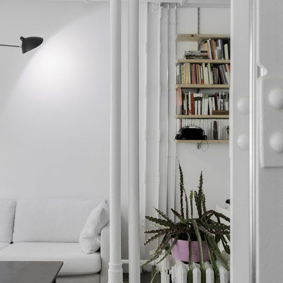salón con instalaciones vistas