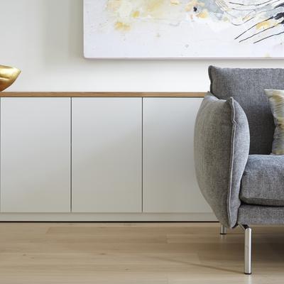 salón con mobiliario a medida