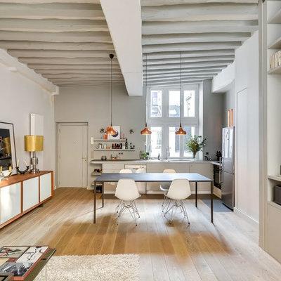 salón con muebles de pladur