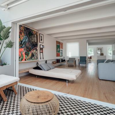 salón con terraza