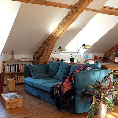 Una casa rústica y cosmopolita
