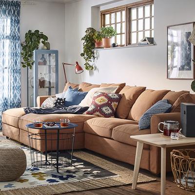 SALÓN decorado con textiles FRANSINE IKEA