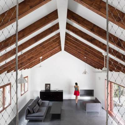 Una casa contemporánea y rural a la vez