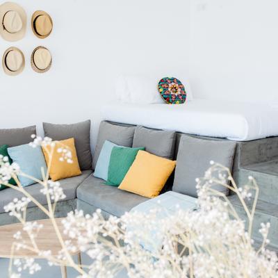 Salón - dormitorio dos alturas