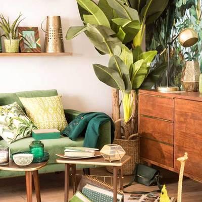 salon estilo tropical