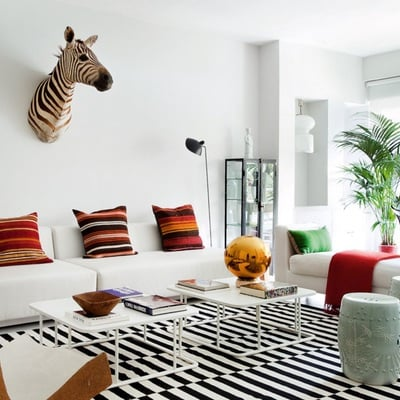 salón estilo tropical