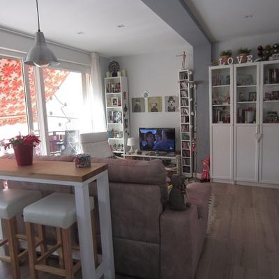 Antes y después de un piso de 45 m² en Vitoria