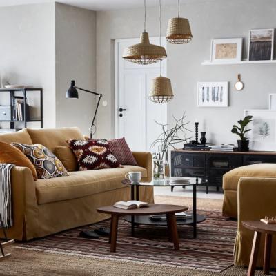 7 ideas para tener un salón calentito a base de textiles
