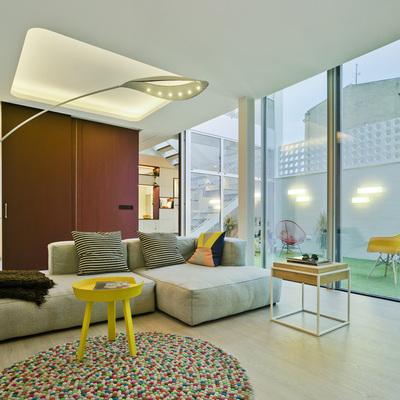 salón patio sofá