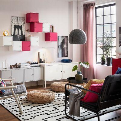 Salón pequeño con productos IKEA