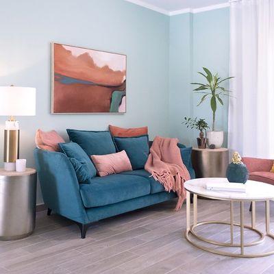 Colores frescos para pintar el salón de tu casa