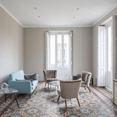 Una vivienda muy luminosa con el suelo de mosaico perfecto