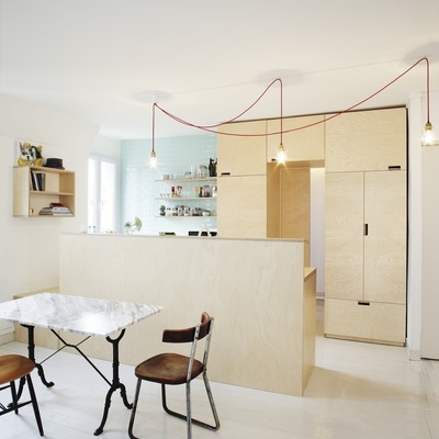 Un apartamento minimalista, pero atrevido