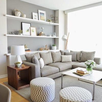 salón tonos grises