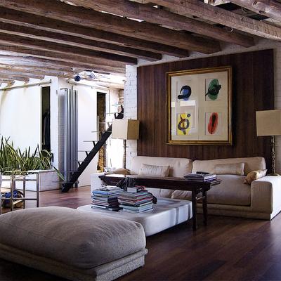Un piso entre lo rústico y lo moderno