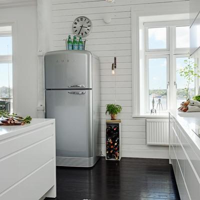Cocina blanca y vintage