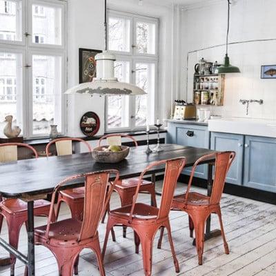 Ideas y fotos de sillas rojas comedor para inspirarte for Sillas rojas comedor