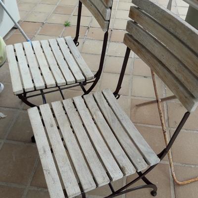 Restauración muebles de terraza