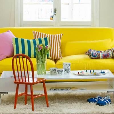 Sofá amarillo ikea