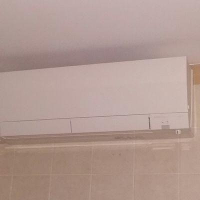 instalación de aire acondicionado.