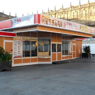 Casetas para ferias o stands exteriores IberStand en la 33ª edición de la Feria Municipal del Libro de Salamanca
