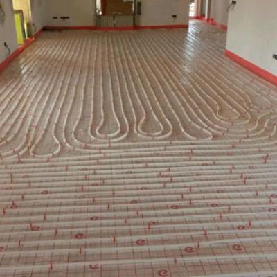 Calefacción mediante suelo radiante con caldera de pellets