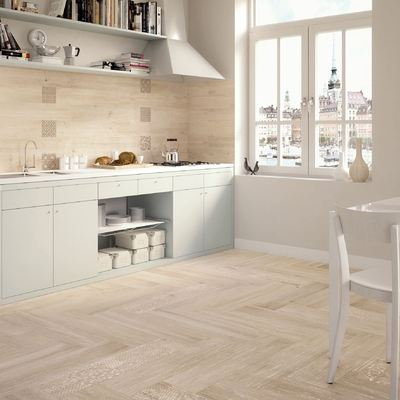 suelo porcelánico en la cocina