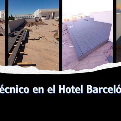 Suelo técnico Hotel Barceló (Cadiz)