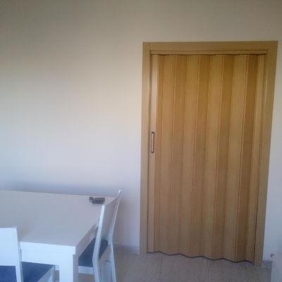 Tabique de pladur y puerta corredera