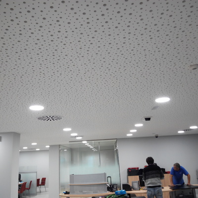 Instalación de techo pladur decorativo