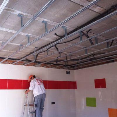 Ideas de poner techo pladur para inspirarte habitissimo for Medidas perfiles pladur