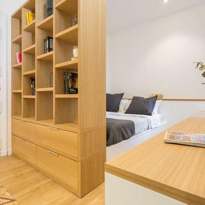 Tendencias hogar 2018, dormitorio con mueble madera a medida