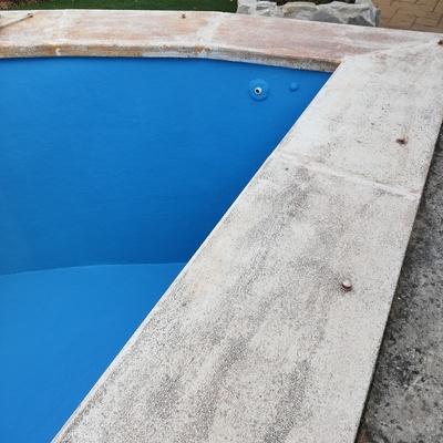Pintado de piscina de fibra de vidrio