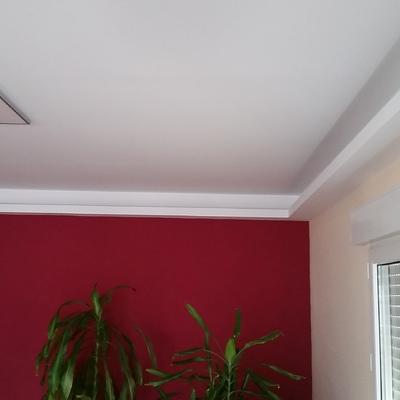 Pintura y decoración de salón, techo con pladur