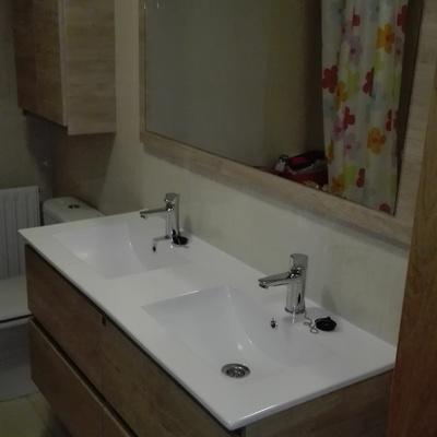 Eliminar bidé y colocación de mueble lavabo doble
