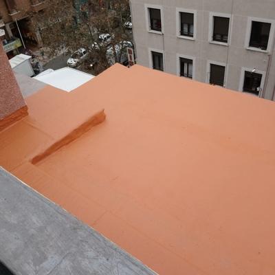 Terraza con cloro caucho y fibra