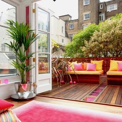 ¡Color en la terraza! Este verano tiñe tu exterior de buen rollo