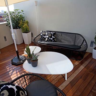 Terraza con tarima de madera IPE