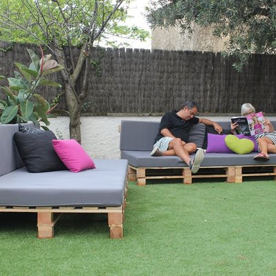Zona de descanso en terraza