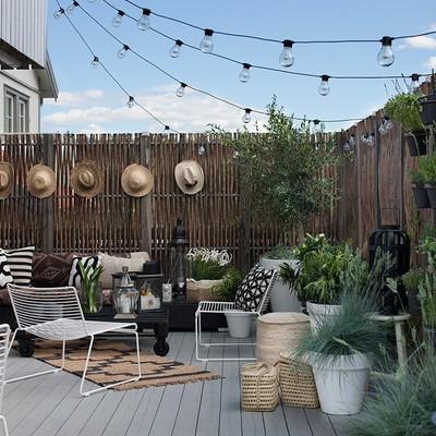 Cómo conseguir una terraza bohemia