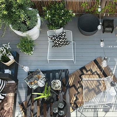 terraza estilo bohemio