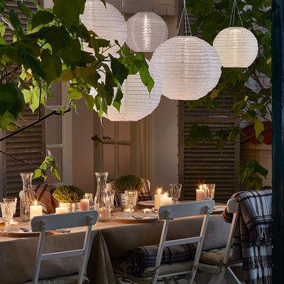 terraza iluminación