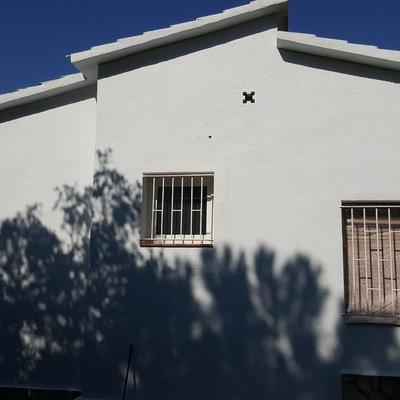 Saneado y pintura en fachada.