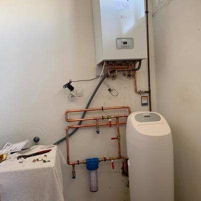 Cambio de caldera estanca por caldera de condensación más descalcificador